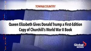 Queen Elizabeth gives President Trump a first-edition of Churchill's World War II book