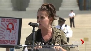 'You are valuable': Alyssa Milano joins protesters speaking out against Brett Kavanaugh confirmation