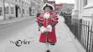 Kingston Town Crier Chris Whyman visits Global News Morning