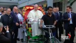 Pope Francis exchanges 'Popemobile' for rickshaw in Bangladesh