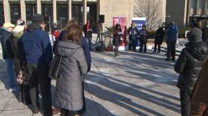 Rally held in Toronto for Florida school shooting victims