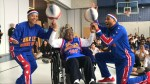 Harlem Globetrotters bust a move with dancing granny for her 109th birthday