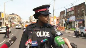 Police update public on scaffolding collapse