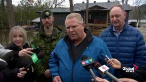 Ford says he's 'strong believer' in climate change as flooding hits Ottawa region