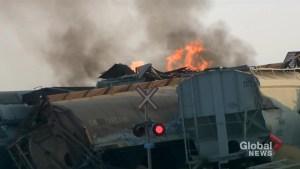 CN train derails north of Saskatoon