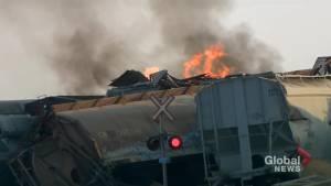 Train derails north of Saskatoon
