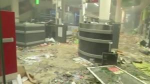 Shops in Hamburg, Germany left in ruins after vandalism during G20