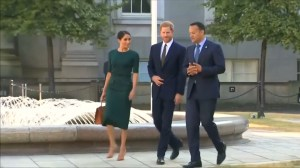Prince Harry and Meghan Markle visit Dublin in first trip abroad as married couple