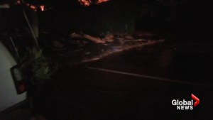 Video captures panic as mudslide takes over California community