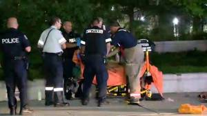 Man dies after 3 people stabbed outside Etobicoke mall Saturday night