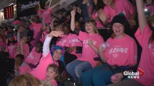 Young Calgary hockey crowd hears powerful anti-bullying messages