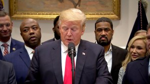 Trump 'thrilled' to support criminal justice reform bill