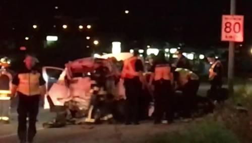 Man dies after semi plows into SUV in West Kelowna