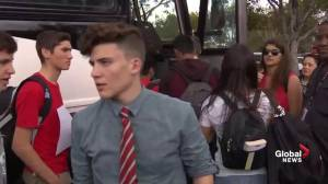 Florida teens board buses for trip to Tallahassee for gun control protest