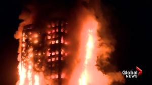 London firefighters battling fire at apartment building