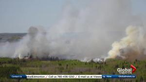 Massive fire in Westlock County