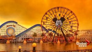 Disneyland blanketed by thick smoke as deadly wildfires continue to burn