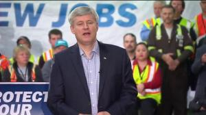 Harper touts increases in resource investment, job creation while maintaining tax rate