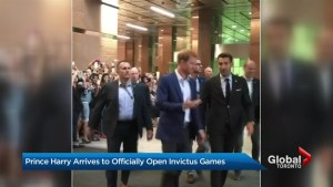 Prince Harry arrives in Toronto to open Invictus Games