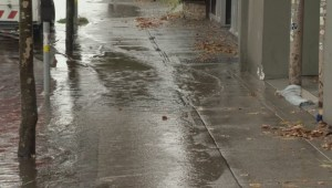 Street flooding in Vancouver