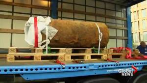 Authorities in Germany show off diffused WWII-era bomb