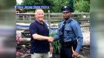 New Hersey State Trooper pulls over man he realizes delivered him 27 years earlier