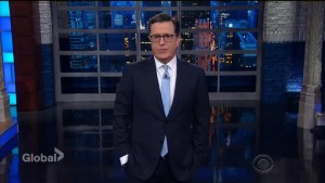 Stephen Colbert tells Donald Trump to 'shut up' when it comes to North Korea