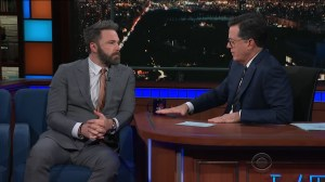 Stephen Colbert presses Ben Affleck on sexual misconduct accusations