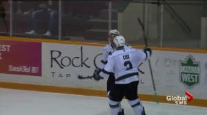 Saskatchewan Huskies bite Lethbridge Pronghorns 4-3 in double-OT win