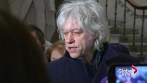 Bob Geldof calls Aung San Suu Kyi a 'murderer' as he returns honour shared with Myanmar leader