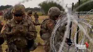 A look at how U.S. forces are fortifying the southern border as the migrant caravan approaches