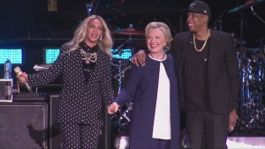 Jay-Z, Beyonce step out on stage in support of Hillary Clinton