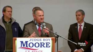 'It's not over': Roy Moore not giving up after projected loss for Alabama Senate seat
