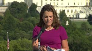 Canada's thoughts and prayers with Charlottesville: Chrystia Freeland