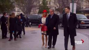 Kellyanne Conway wears Minuteman-inspired outfit at Trump inauguration