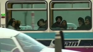 Plane landing on Calgary street leaves CTrain passengers in disbelief
