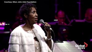 Footage from Aretha Franklin's final public performance