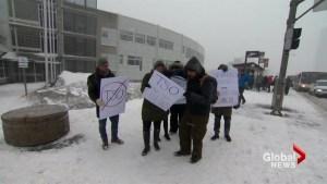 Quebec nurses protest mandatory overtime