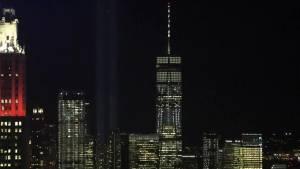 World Trade Center memorial lights up New York City's sky on 9/11