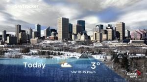 Edmonton early morning weather forecast: Tuesday, December 18, 2018