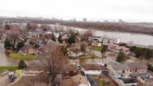Drone footage shows severity of flooding in Ottawa