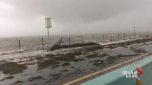 Highway out of Florida Keys washed out by Hurricane Irma's storm surge
