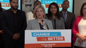 Andrea Horwath says Ontarians are worried about state of healthcare