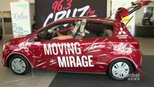 Strangers living in Mitsubishi Mirage in Saskatoon with hopes of winning it