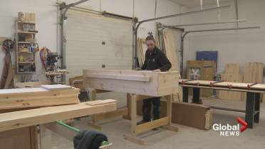 Do-it-yourself casket kit adds life to New Brunswick woodworker's