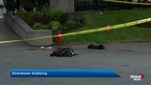Police investigate Olympic Plaza stabbing
