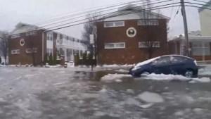 New Jersey under coastal flood warning during snowstorm