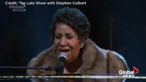 Stephen Colbert pays tribute to Aretha Franklin