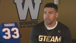 Bombers' Andrew Harris wears jersey number in memory of former teammate