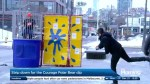 Why did Liem plunge into a dunk tank in the middle of December?